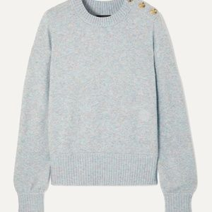 J. Crew Button-Detailed Melange Knitted Sweater M